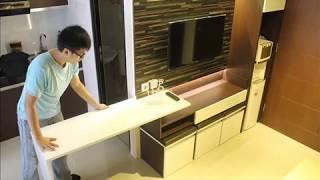 Konsep Kreatif Furniture Minimalis Multi Fungsi Cocok Untuk Apartemen Youtube