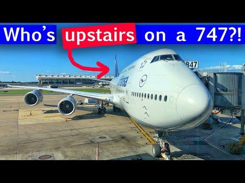 Lufthansa 747-8 UPPER DECK Business Class   Washington, DC - Frankfurt