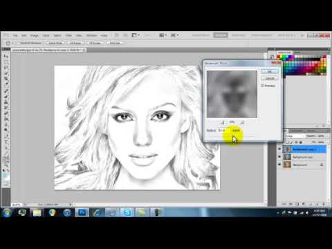 how to make pictures look drawn in photoshop