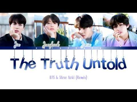 BTS 방탄소년단  The Truth Untold feat Steve Aoki Remix Lyrics  At Tomorrowland 2018