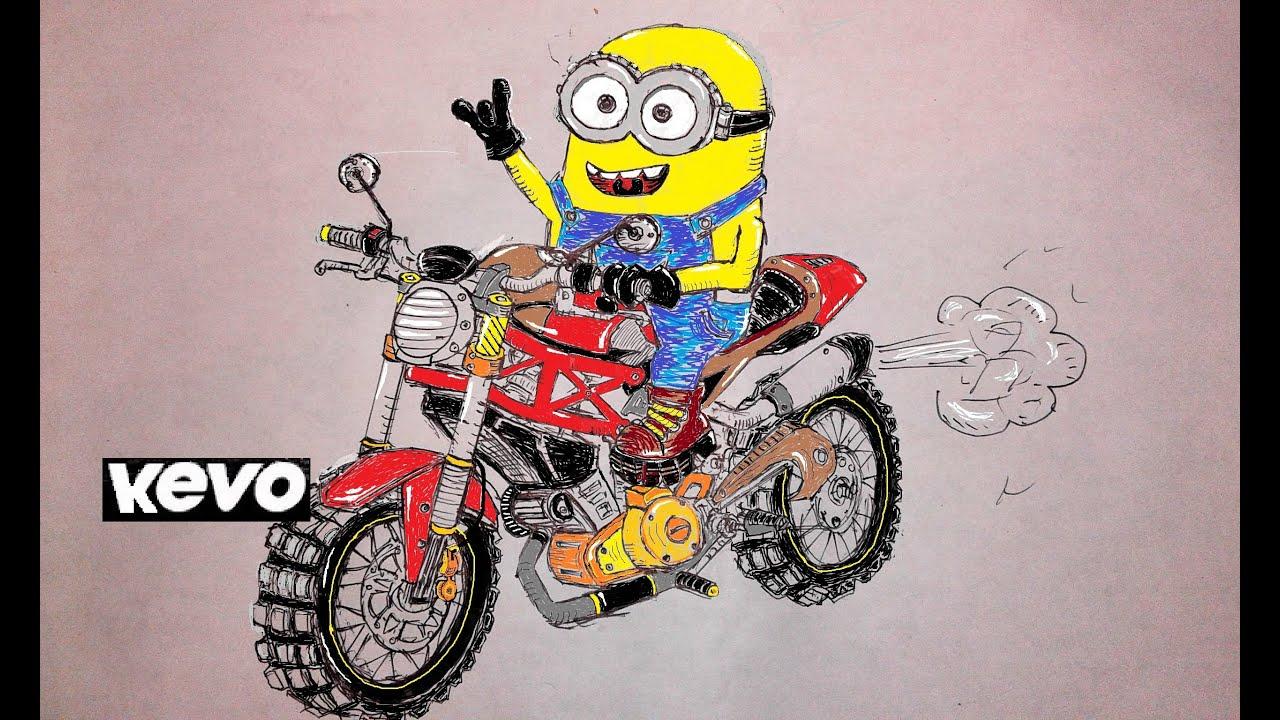 CARA MUDAH MENGGAMBAR MOTOR DRAG BALAP SPORT BYSON SATRIA VIXION