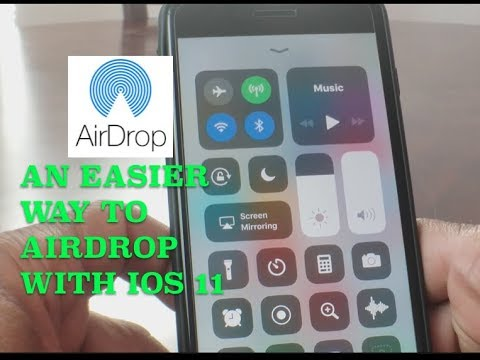 HOW TO AIRDROP EASIER WITH IOS 11!