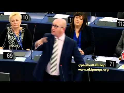 Paul Nuttall predicted terrorist attacks in speech to EU just weeks earlier