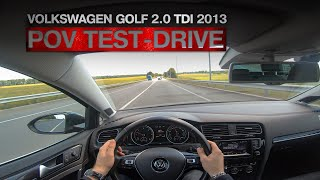 Volkswagen Golf R-Line 2.0 TDI 2013   POV Test-Drive