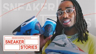 Quavo Shows Off Dior Air Jordan 1s, Rare Nike SB Dunks, and Oregon Air Jordans On Sneaker Stories