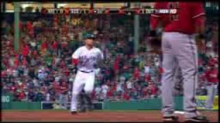 2008 Red Sox: Dustin Pedroia hits home run over the Green Monster vs Diamondbacks (6.24.08)