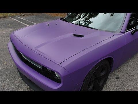 Flat Purple Car Paint