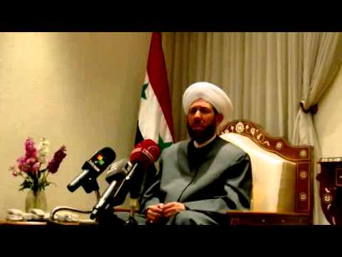 Grand Mufti of Syria statements to Czech media delegation on situation in Syria (Arabic-Czech)