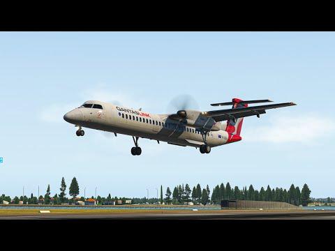 X-Plane 11 | Qantas Link Dash-8 Q 400 | Quick Flight Into Sydney!!