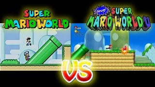 Super Mario World Vs Newer Super Mario World U