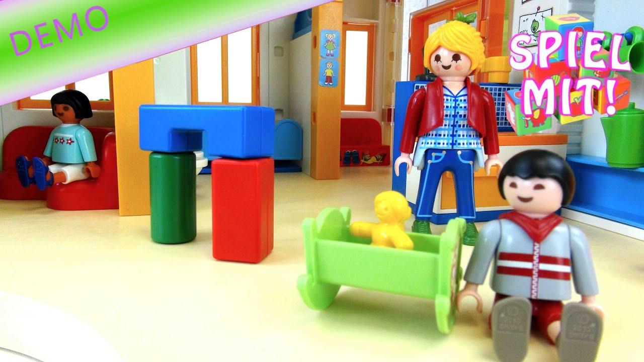 Playmobil Kindergarten Kita Sonnenschein Aufbau Und Demo Youtube