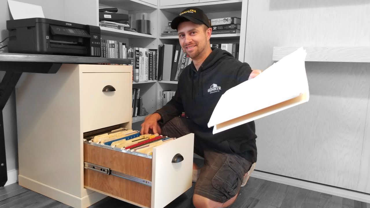 DIY Filing Cabinet Out Of Wood