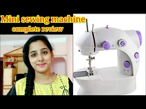 Mini sewing machine||How to use,complete review and demo||sewing machine for begginers