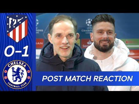 Thomas Tuchel & Olivier Giroud React To Big Win + Stunning Bicycle Kick | Atletico Madrid v Chelsea