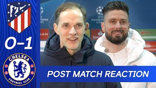 Thomas Tuchel \u0026 Olivier Giroud React To Big Win + Stunning Bicycle Kick | Atletico Madrid v Chelsea