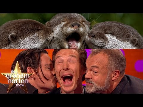 Download Youtube: Benedict Cumberbatch, Johnny Depp and Graham Take Otter Photos - The Graham Norton Show