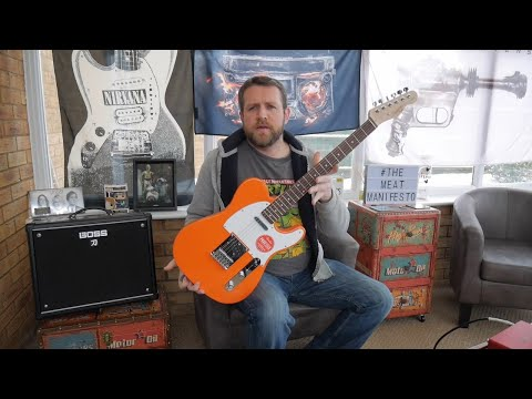 Squier by Fender Affinity Telecaster Competition Orange - Review Demo