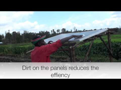 sunlight pump - installation of the solar panels
