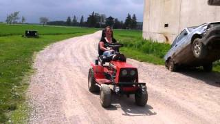 My DAVES FARM Lawn Tractor Ride!