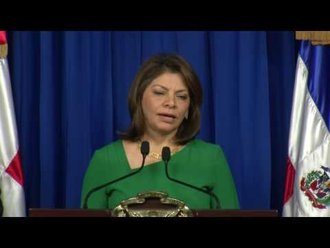 Laura Chinchilla elogia logros gobierno Danilo Medina