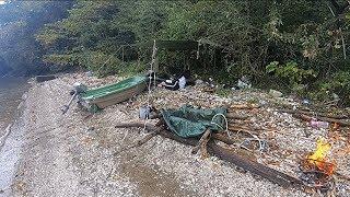 アルバイトして買った小舟で大型根魚釣りして一人用テントに泊まったよ!