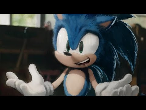 Toon Sonic In The Sonic Movie   Animated
