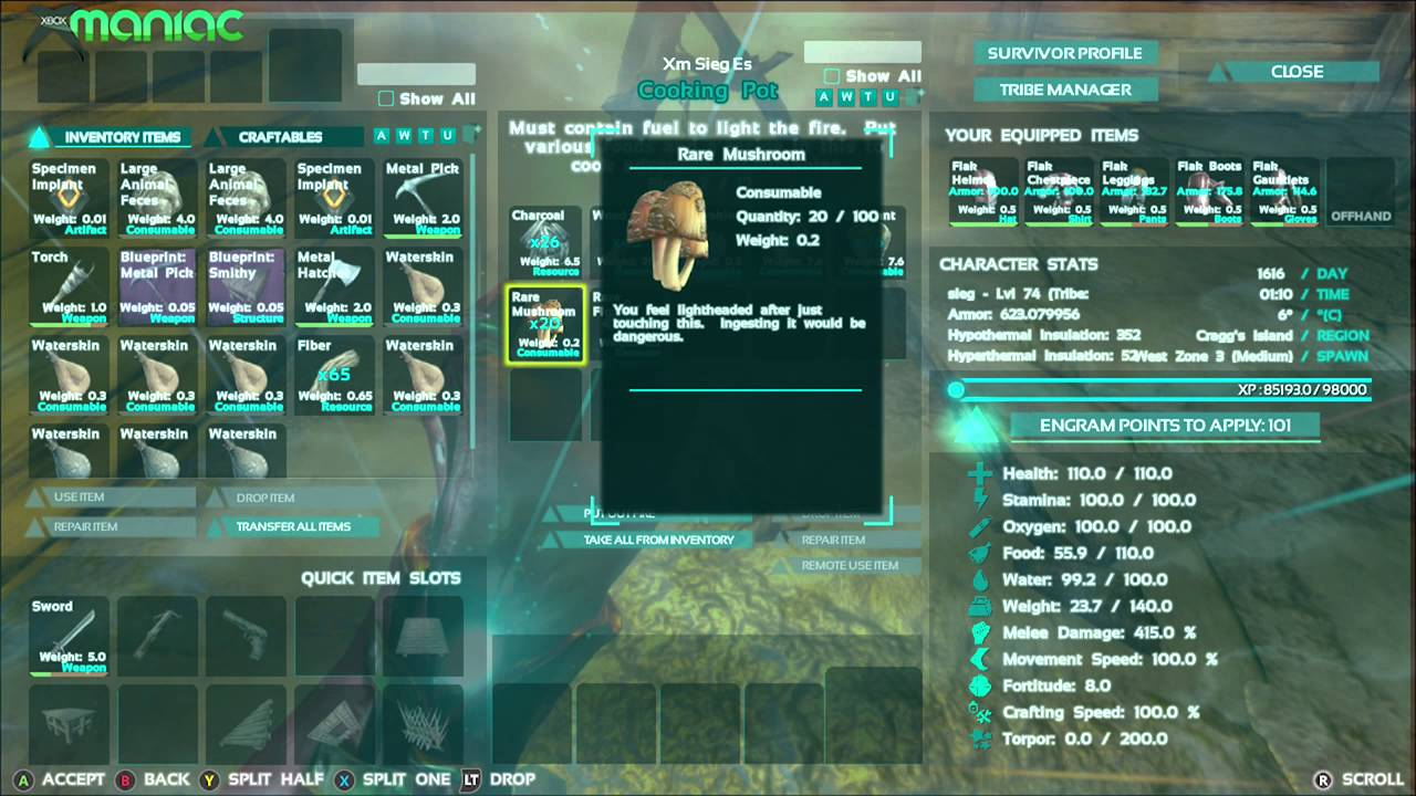 Ark survival evolved receta reset skills pocin de reset youtube malvernweather Image collections