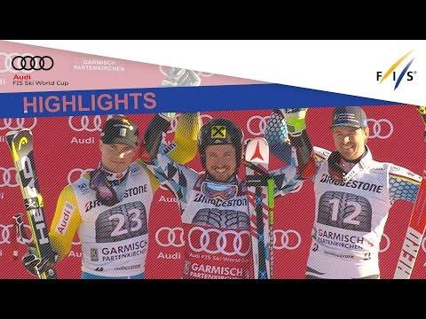 Highlights   Hirscher displays his class to win Garmisch-Partenkirchen GS   FIS Alpine