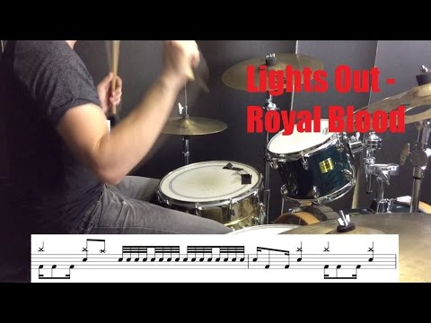 Lights Out Drum Tutorial - Royal Blood