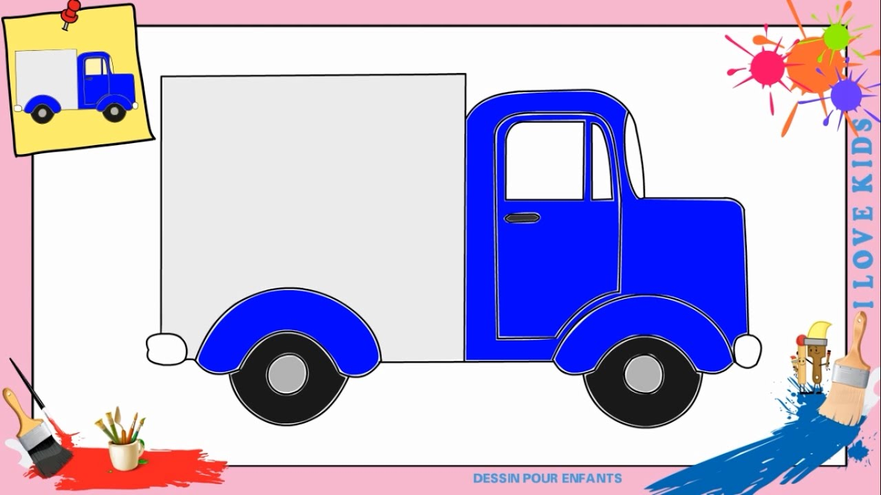 Coloriage camion transport de voiture www - Dessiner un camion de pompier ...