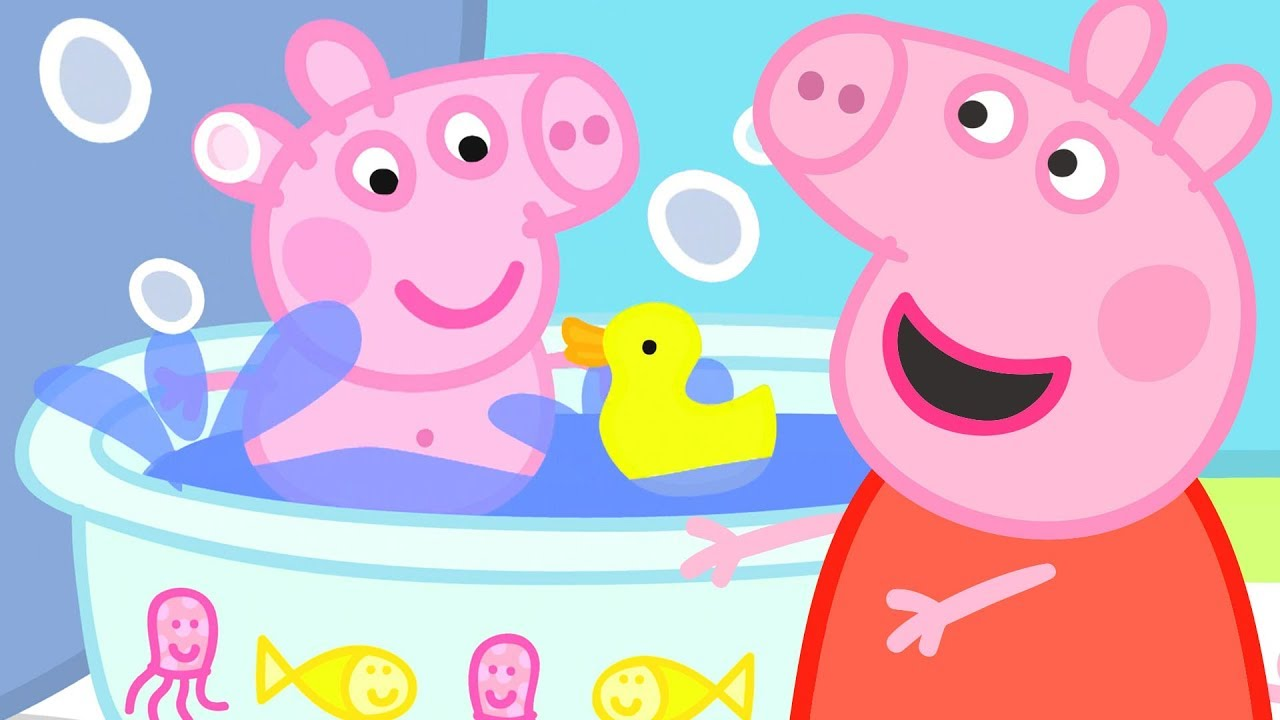 Peppa Pig   Baby Alexander's Bath Time!
