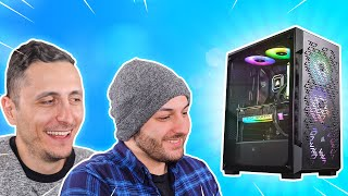 I surprised him with his 1st gaming PC!