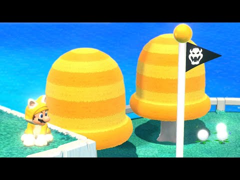 Super Mario 3D World - World 1 (100% Green Stars and Stamps)