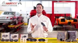 HARDEX® Low-Metallic Brake Pads Series (Top Best Brake Pads Brand)
