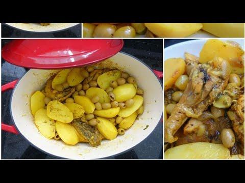tagine-poulet-,-olives-et-pommes-de-terre-|-recette-simple-et-savoureuse