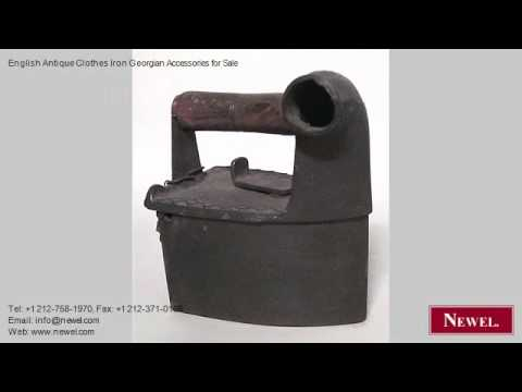 English Antique Clothes Iron Georgian Accessories for Sale