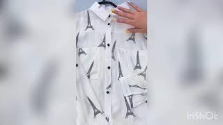 Школьная рубашка для девочек Украина b23. Обзор на брендовые детские вещи. Купить школьную рубашку