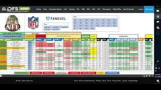 NFL DFS ChopTalk Week 10 Fanduel Lineup Advice Strategy