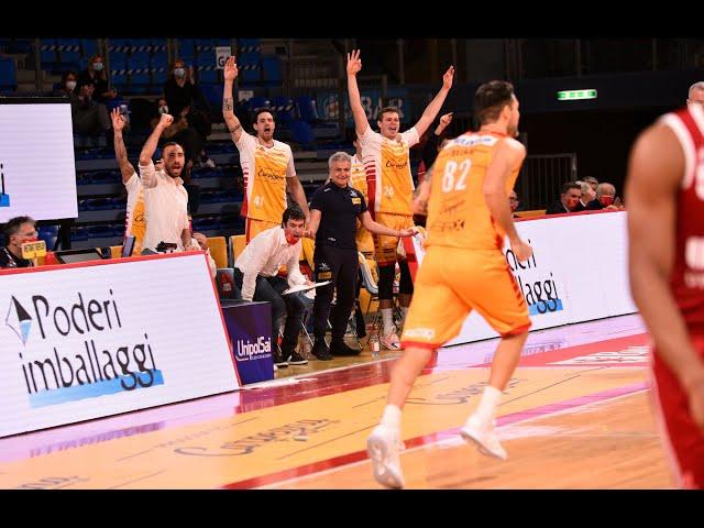 [Sintesi] Carpegna Prosciutto Basket Pesaro - UNAHOTELS Reggio Emilia: 84 - 63