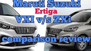 Maruti Suzuki Ertiga VXI v/s ZXi comparison  review 2018 interior and exterior