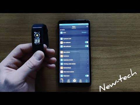 How to connect QW18 with FunDo app in Android phone SmartWatch qw18 Smartband qw18 Smart bracelet