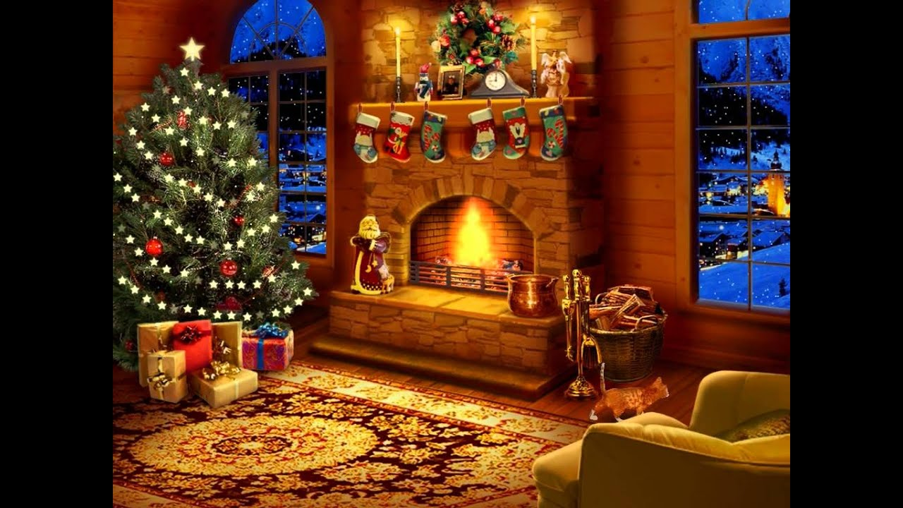 Gallery For Animated Christmas Fireplace Wallpaper