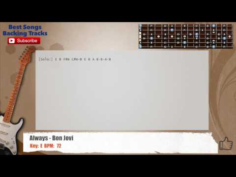 Always - Bon Jovi Guitar Backing Track with chords and lyrics
