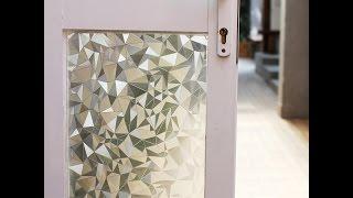 fancy-fix 3D Cut Glass Window Film-How to install Static Cling Window Film