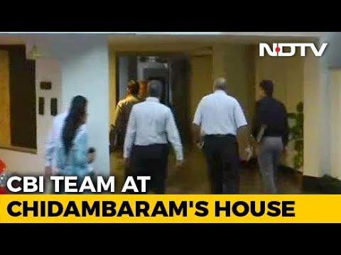 CBI Team Visits P Chidambaram's House In Delhi