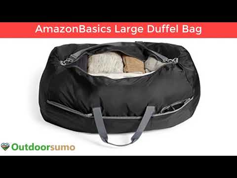 Amazon Basics Large Travel Luggage Duffel Bag Black Reviews and Buying Guide by outdoorsumo
