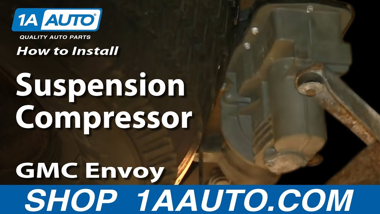 how to replace rear air suspension compressor 02-09 gmc envoy