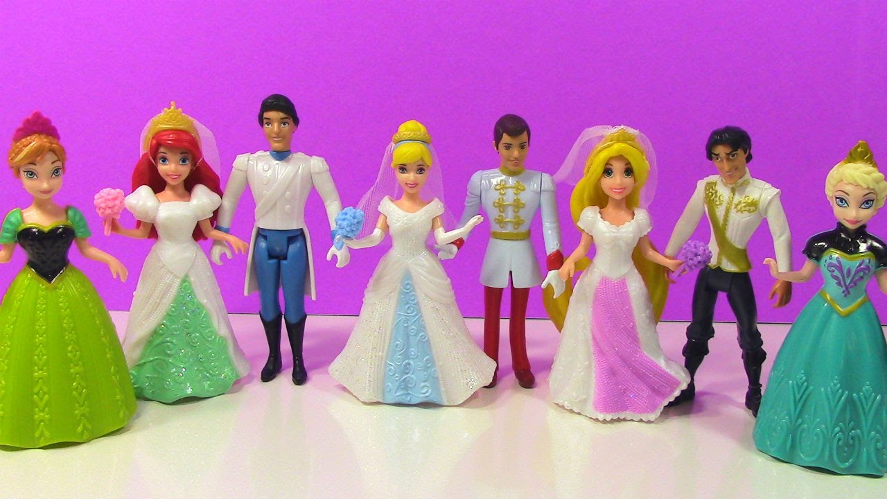 Disney Princess Fairytale Wedding Collection with Frozen Elsa and ...