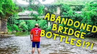 RIVER TREASURE HUNT | ANTIQUE BOTTLES | ABANDONED BRIDGES