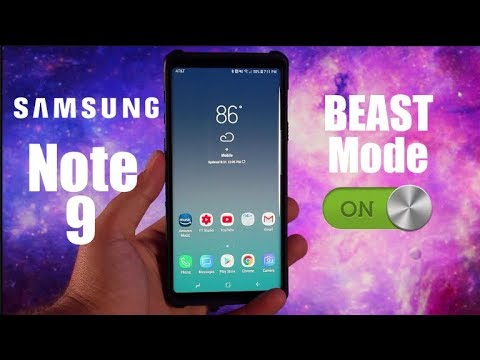 How To Activate Beast Mode On The Galaxy Note 9 - YouTube